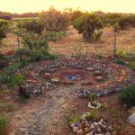 vuurplaats in de tuin
