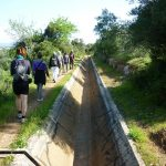 Hiking along the irrigation canals